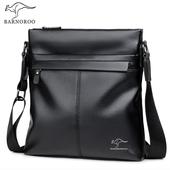 袋鼠2019新款男士包包单肩斜挎包男式背包商务休闲挂包斜跨软皮包