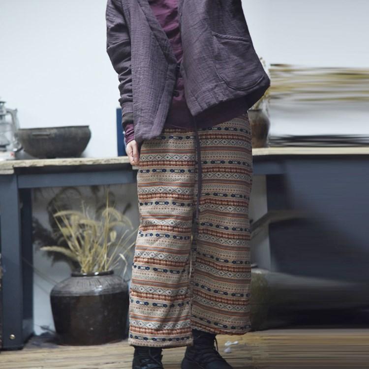 原创舒适棉布裤