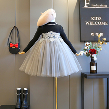 品牌童装2018冬季新款时髦气质女童公主裙洋气女宝冬裙儿童连衣裙