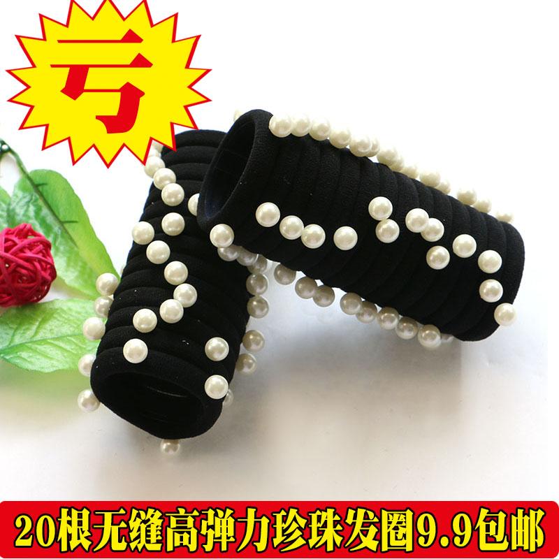 韩版高弹力马尾黑色发圈头绳.