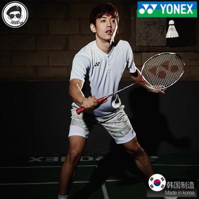 尤尼克斯2018新款羽毛球服套装 YY运动服短袖无袖男套装衣服t恤夏
