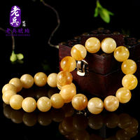 Natural amber old beeswax chicken oil yellow ore full dense 108 beads beads bracelets bracelets men and women models shoot 2