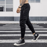 Workwear pants, men's fashion brand, body-building, foot-binding, Hallen pants, spring and summer American version of fashionable casual trousers, sports trousers