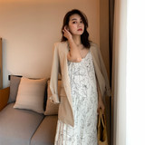 Spring suit new casual sleeve turn-over temperament small suit jacket for pregnant women