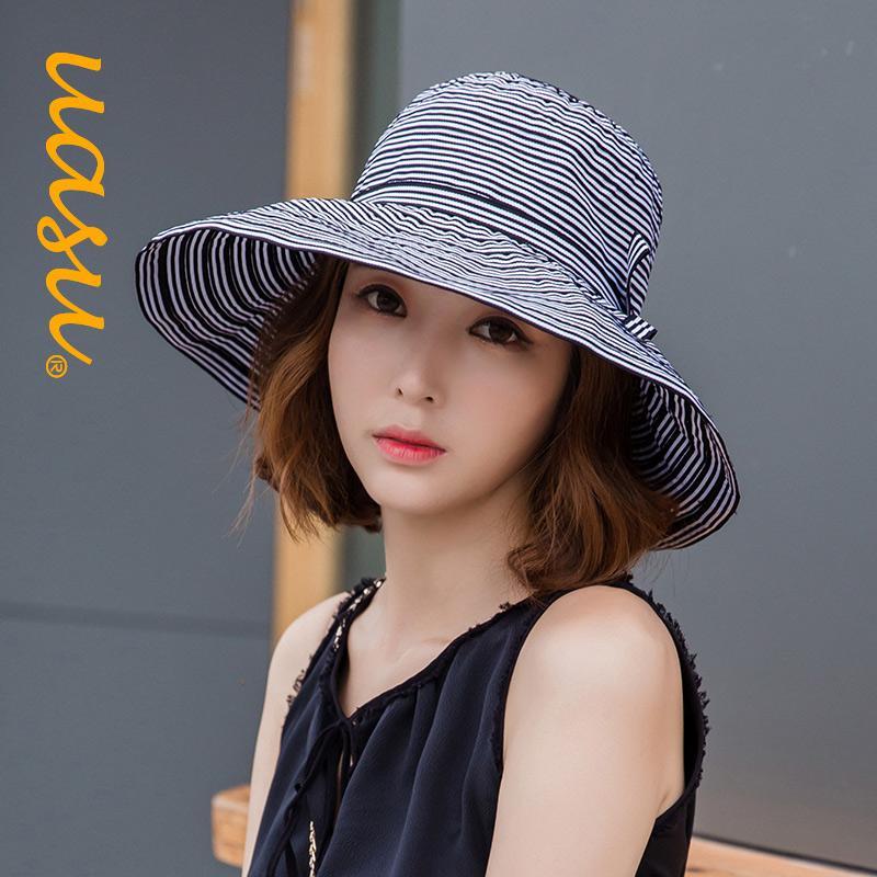 条纹沙滩帽