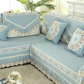 四季沙发垫布艺欧式通用田园小清新客厅坐垫韩式沙发套罩全盖定做