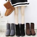 冬季雪地靴女加绒加厚短筒防滑磨砂皮短靴时尚百搭情侣面包鞋棉鞋