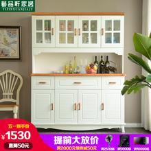 地中海餐边柜现代简约实木酒柜美式客厅储物柜欧式厨房碗柜茶水柜