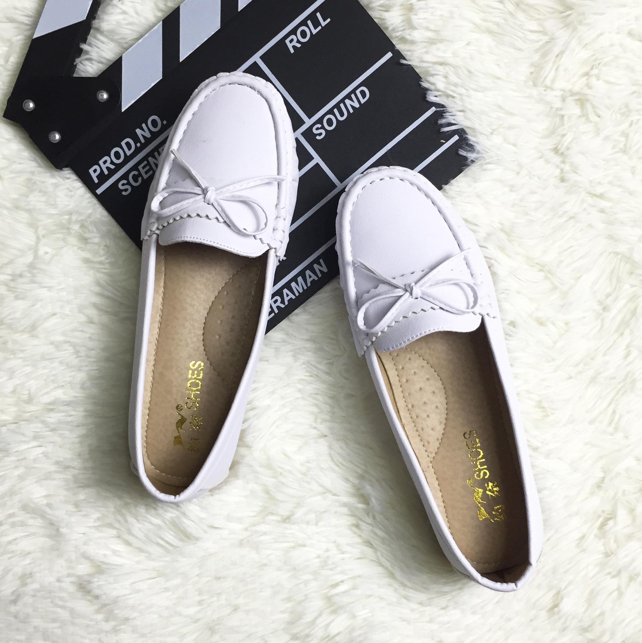 休闲舒适护士小白鞋