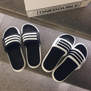 潮软底室外沙滩凉拖防滑一字拖 外穿韩版 男时尚 夏季拖鞋 代购