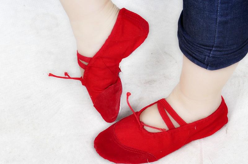 民族舞蹈鞋子 舞蹈鞋 软底鞋 练功演出鞋