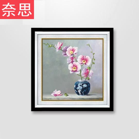 植物花卉十字繡客廳現代簡約