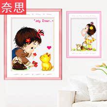 十字绣房间卧室卡通动漫可爱清新简单绣自己绣小孩儿童绣的手工秀