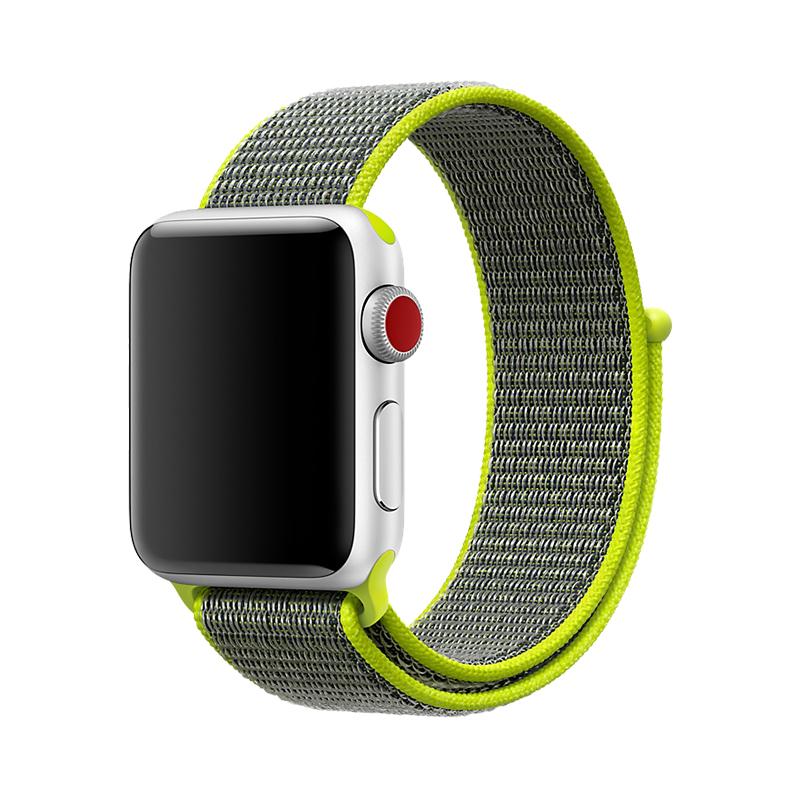 适用apple watch3苹果手表表带精织尼龙回环iwatch表带3/2/1代彩虹创意iphone series表带运动型潮女生42mm38