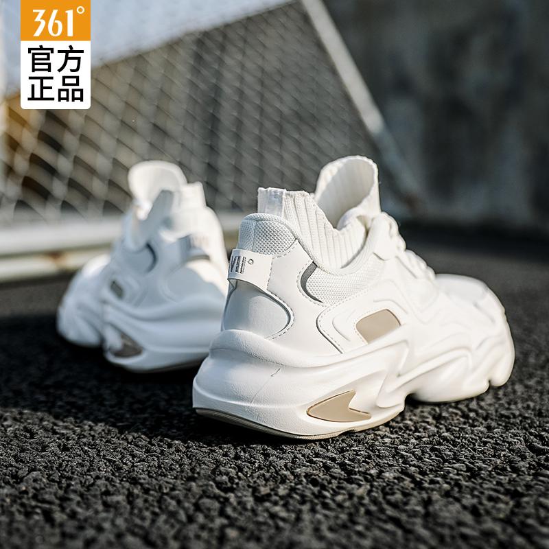 361男鞋2019冬季新款361度跑步鞋秋冬品牌老爹鞋超轻秋季运动鞋子
