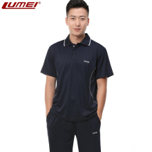 Lumei South Korean silk short-sleeved sportswear Summer men's large-size sportswear Lapel T-shirt sportswear