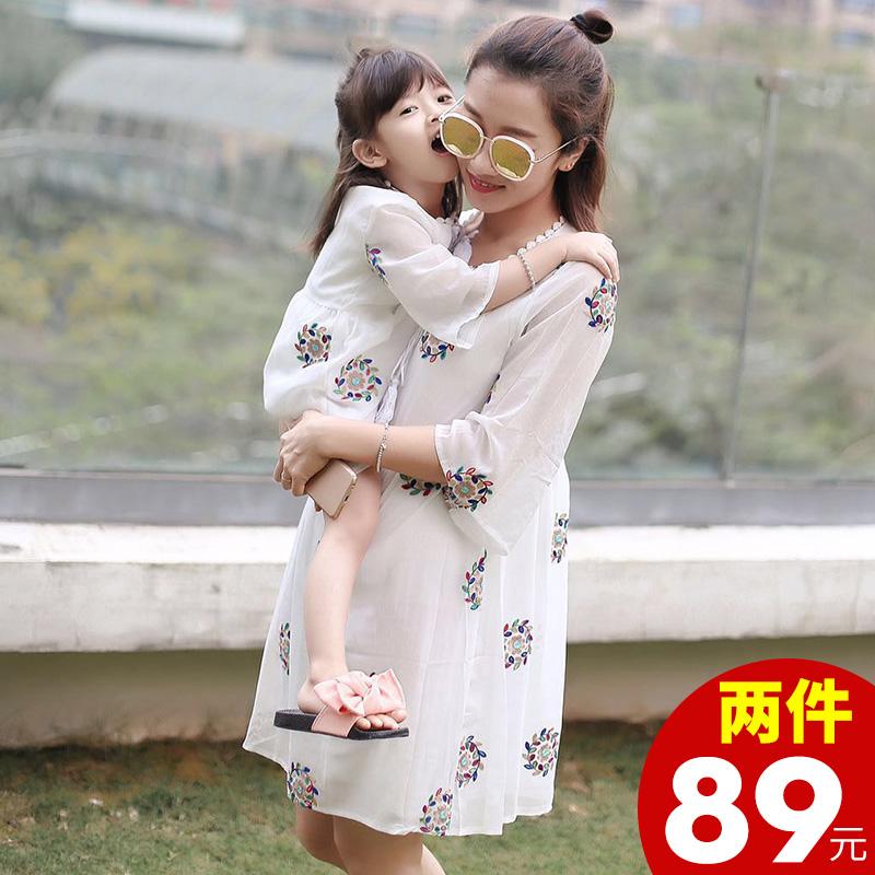 母子装夏装裙
