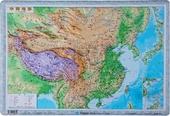 饰学生学习 办公装 地理研究地理学习 星球中国地形图3d立体地形图 55x38cm 2018中国地形图 地理教学凹凸立体地形图 立体 现货