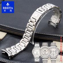 百达手表配件适用泰格豪雅钢带卡莱拉潜竞不锈钢表链表带22MM男