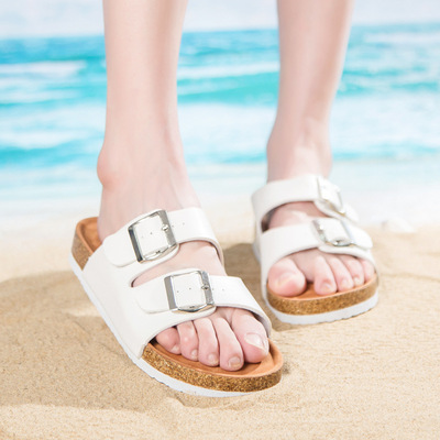 ladies summer slippers shoes womens flat sandals girls white