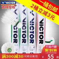 VICTOR Victory Badminton Training Ball Game 3/5/9 Victory 12 Pack Golden No. 1