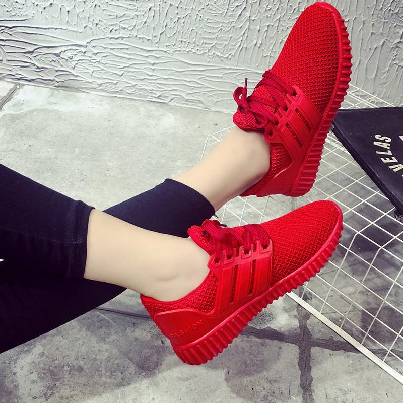 运动鞋女便宜的50元以下跑步鞋2018新款街拍韩版学院厚底休闲女鞋