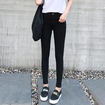 2018新款韩版春夏外穿黑色铅笔裤紧身小脚打底裤薄款百搭九分女裤