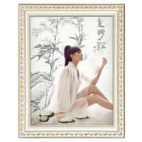 Solid wood photo frame hanging wall European 7 12 16 20 24 36 inch wedding photo frame creative set picture frame custom