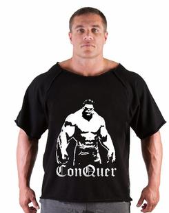 新款队长健身蝙蝠衫健美运动T恤宽松训练T恤男短袖加厚全棉