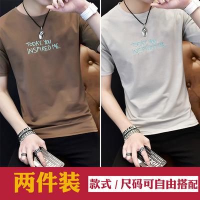 夏季新款t恤短袖圆领薄款半袖体恤男生韩版修身体恤百搭上衣服潮