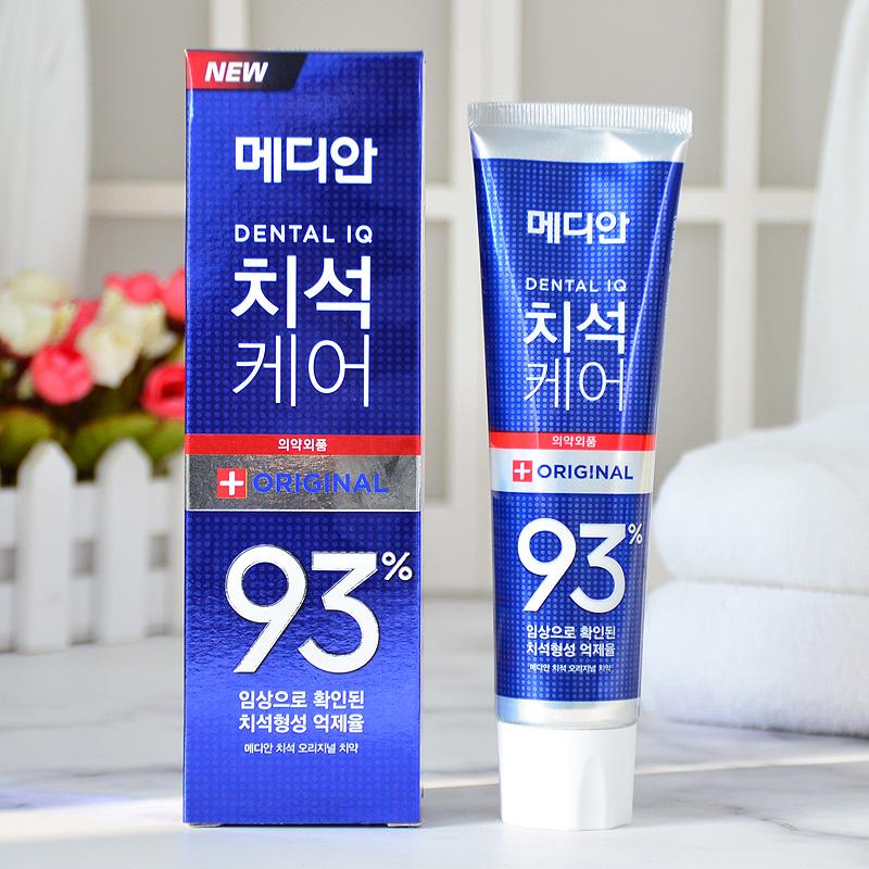韩国正品median爱茉莉麦迪安86牙膏93美白去黄去牙渍牙结石去口臭