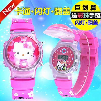 儿童手表可爱女孩男童卡通防水学生韩版简约潮流投影小音乐电子表优惠券