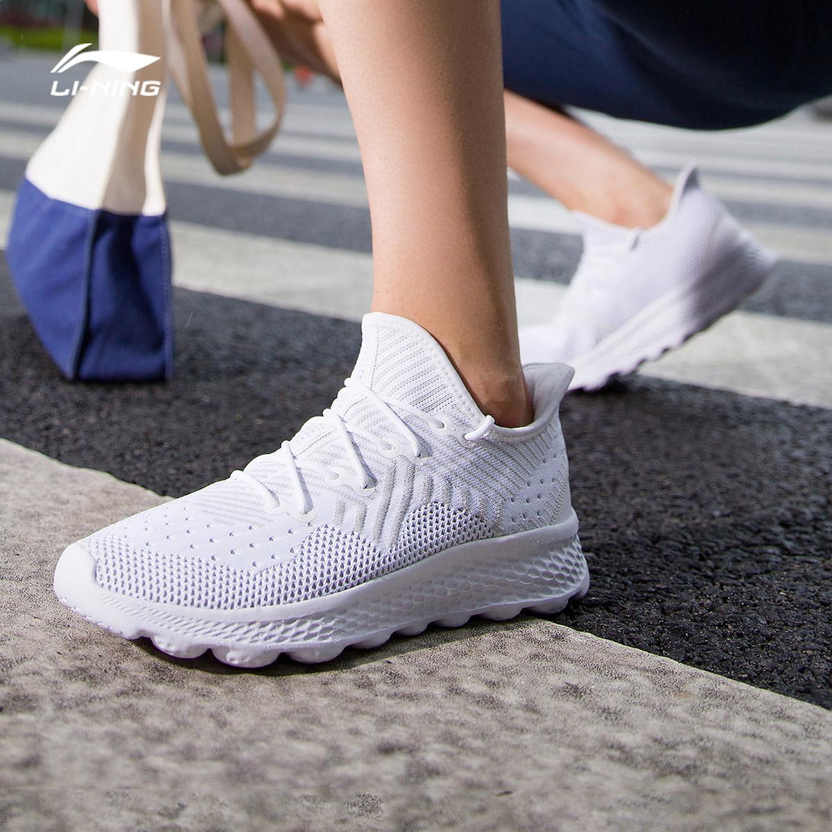 李宁跑步鞋男鞋2019新款eazgo舒适跑鞋秋冬季减震低帮运动鞋
