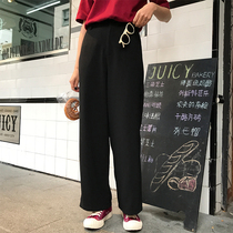 Xin Gang help homemade 2019 early spring new loose temperament thin straight barrel wide-legged pants casual pants suit pants girl