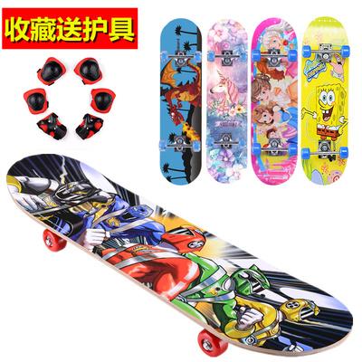 双撬四轮滑板车4轮宝宝闪光青少年2-6-12岁初学者小孩男女儿童