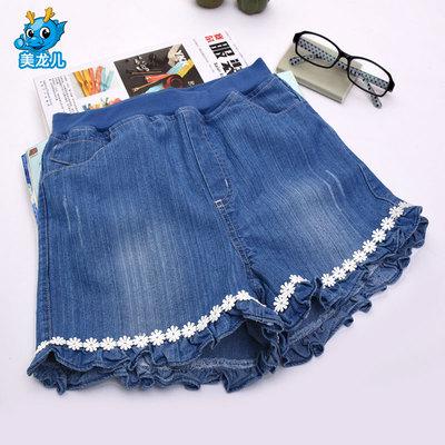 女童牛仔短裤外穿夏季薄款2018新款韩版时尚儿童裤子女热裤夏