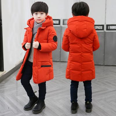 童装男童棉衣2018新款冬装儿童中长款棉袄中大童羽绒棉服外套潮衣