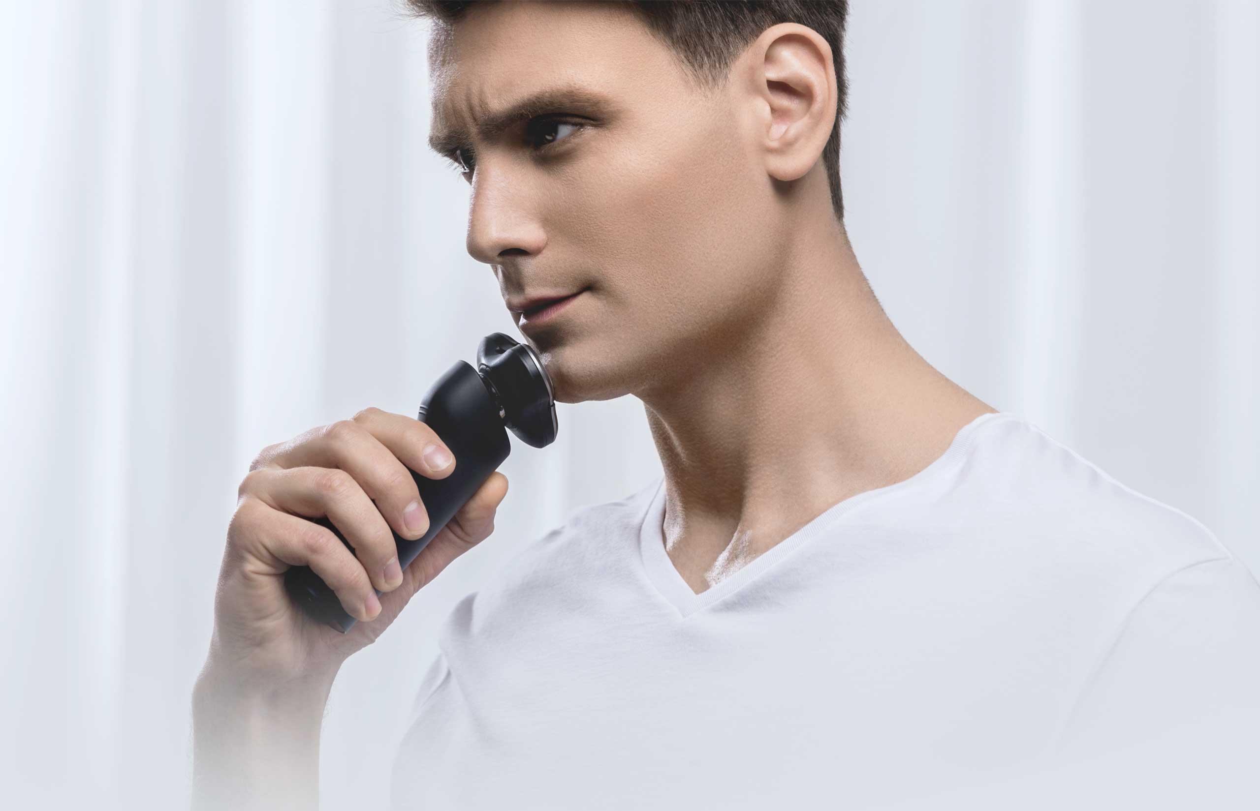 米家电动剃须刃滦士刮胡刃全身水洗充电式胡须刃剃须干湿双剃新品