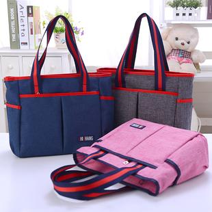 新款帆布包手提包时尚韩版布包女简约百搭防水妈妈包手拎妈咪包