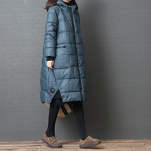 Shiyan cotton female autumn and winter new 2018 Korean version of the loose large size women's fashion comfortable hooded striped cotton coat
