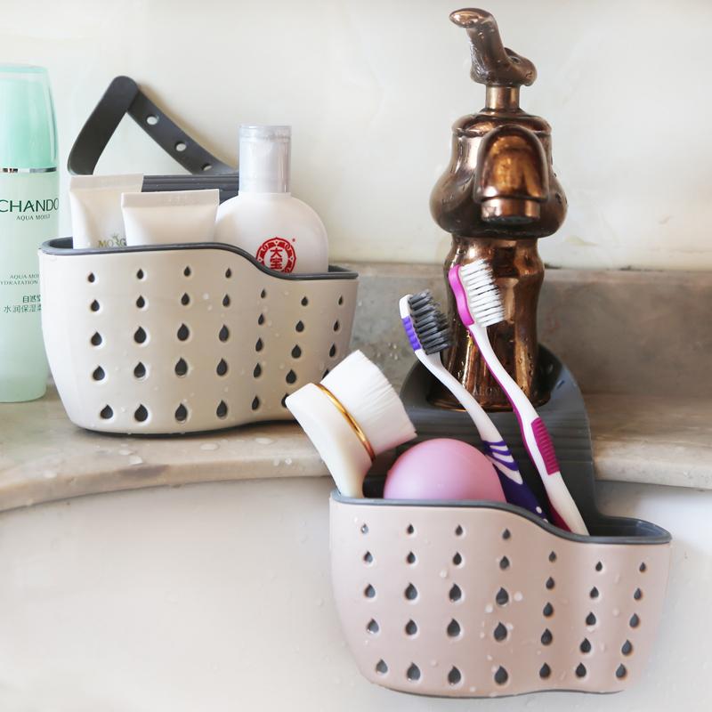厨房用具创意水槽沥水篮收纳挂袋水龙头水池海绵挂篮置物架可调节