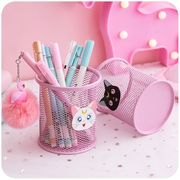 Fashion girl heart cute pen holder makeup brush Korean students small fresh creative desktop ornaments storage box stationery