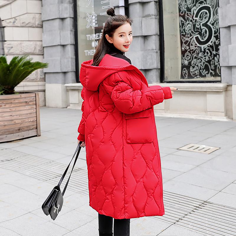 棉袄女2018新款宽松棉衣女中长款冬天外套女加厚ins羽绒棉服女装