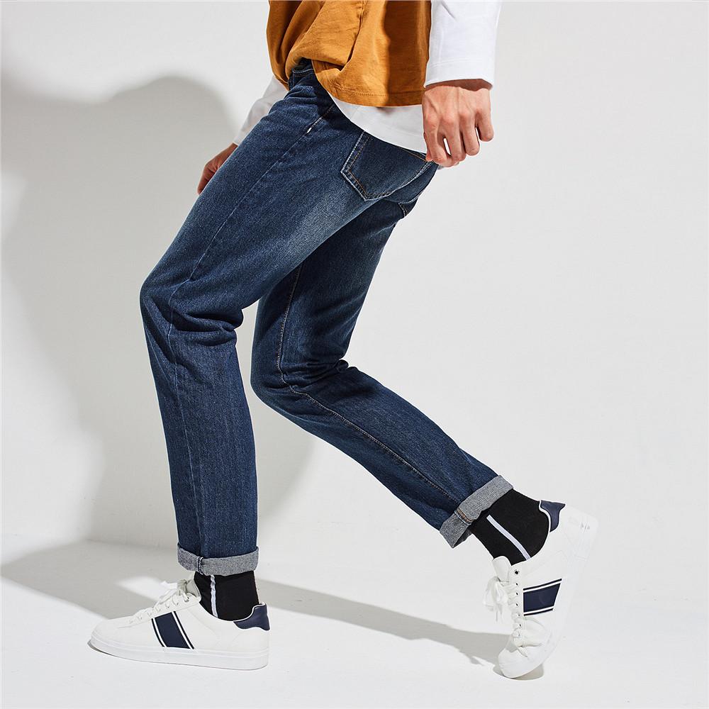 佐丹奴 牛仔裤男 猫须洗水丹宁牛仔裤 男士休闲牛仔长裤 01116035