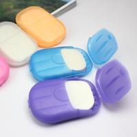 Portable soap tablets small soap paper hand washing small soap tablets travel supplies paper soap travel