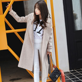 显瘦大码 女装 中长款 毛呢外套修身 89.9元 呢子大衣 秋冬新款 韩版图片