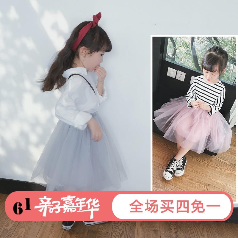 女童秋季半身裙新款