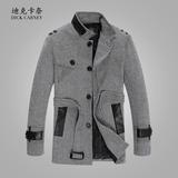 反季特价修身中长款呢子大衣男士秋冬季立领男装风衣毛呢休闲外套