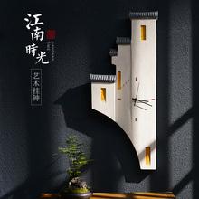 创意江南时光挂钟 饰静音时钟壁饰 新中式立体墙饰挂件客厅过道装