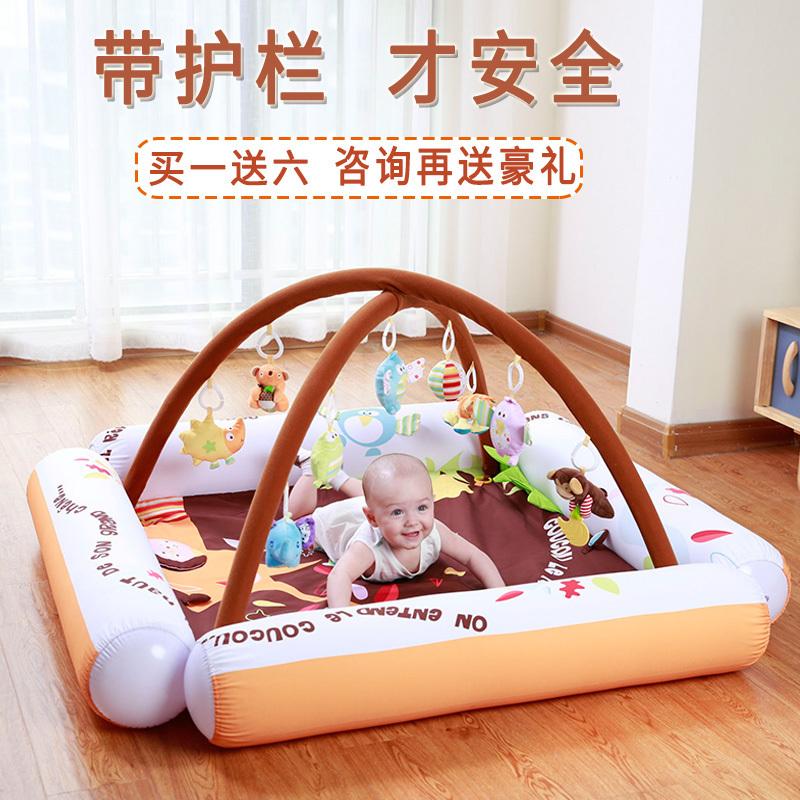 婴儿脚踏钢琴健身架器0-1-3-4-6-9-12个月岁益智护栏宝宝音乐玩具